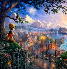 Thomas Kinkade - Pinocchio                                                                                                                                                      More