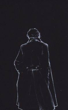 Benedict Cumberbatch as Sherlock. Johnlock, Sherlock Holmes Bbc, Jim Moriarty, Sherlock Drawing, Sherlock Fan Art, Sherlock Poster, Sherlock Quotes, Sherlock Cake, Disney Films