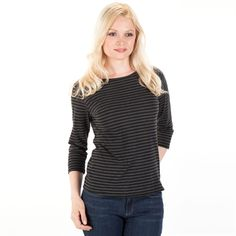 Cut Loose Striped Boat Neck Tee