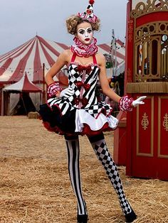 Sexy Deluxe Harlequin Clown Women's Costume