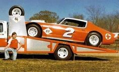Weird Cars, Cool Cars, Toy Hauler Trailers, Late Model Racing, Mark Martin, Dirt Racing, Car Carrier, Old Race Cars, Open Trailer