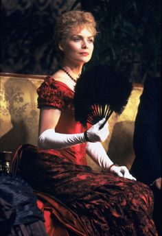 Countess Ellen Olenska's red bustled gown in The Age of Innocence (1993).