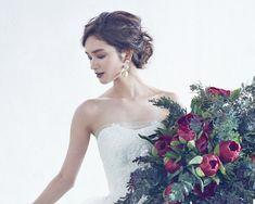 Hair & make Bridal Beauty, Bridal Makeup, Bridal Hair, Dress Hairstyles, Wedding Hairstyles, Hair Setting, Wedding Hair Inspiration, Wedding Flowers, Wedding Dresses