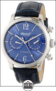 Ingersoll IN8009BL - Reloj analógico de caballero automático con correa de piel azul de  ✿ Relojes para hombre - (Gama media/alta) ✿