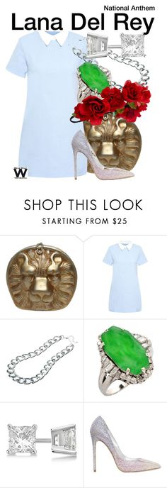 """""""Lana Del Rey"""" by wearwhatyouwatch ❤ liked on Polyvore featuring Amalie & Amber, Adele Marie, Allurez, Le Silla, Accessorize, music and wearwhatyouwatch"""