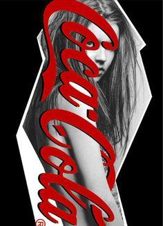 "Shigeru Suzuki ""A GIRL LOVES COKE"""