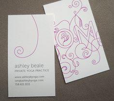 LOVE THESE!!  In Marigold...100 Custom Yoga Calling Cards - OM design. $48.00 USD, via Etsy.