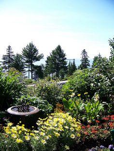 Garden at Le Manoir Richelieu - Quebec, Canada