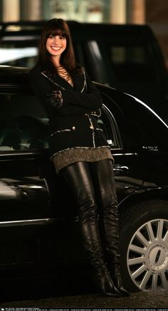Anne Hathaway and the Chanel boots from 'Devil wears Prada'