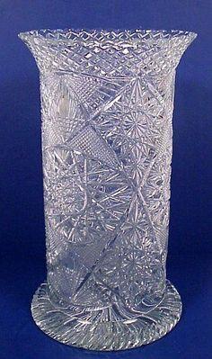 CUT GLASS ANTIQUE UMBRELLA STAND