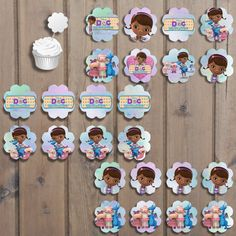 Doc McStuffins Cupcake Toppers Set Printable by KeiraKloset