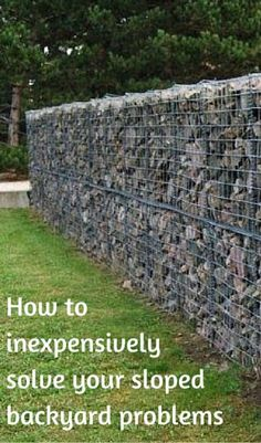 How to inexpensively solve your sloped backyard problems sloped backyard landscaping, backyard retaining walls,