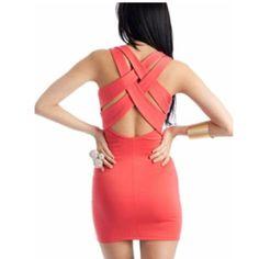 bold dramatic cross-back straps
