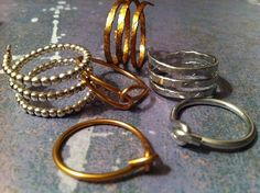 Various Wire Wrapped Rings by lauraeddingsparry on Etsy, $2.00