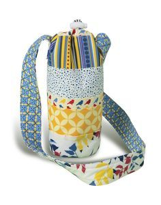 This fun and practical insulated drink bottle carrier is perfect to take your cool drink with you wherever you go. Made from only a few Jelly Roll strips and featuring a drawstring to close the top…