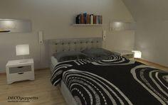 Κρεβάτι υπέρδιπλο με καπιτονέ κεφαλάρι και δυο κομοδίνα