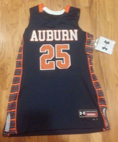 Womens Auburn Tigers Large Basketball Custom Jersey #25 Under Armour NCAA $95…