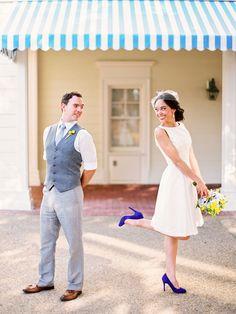 Short Wedding Dress idea | Photo by Shipra Panosian