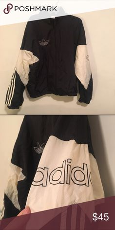 Vintage Adidas Windbreaker Excellent vintage condition, no noticeable flaws. Vintage size L Adidas Jackets & Coats