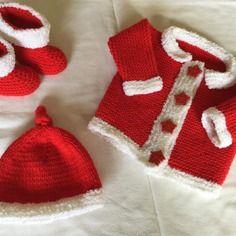 *spécial noel* gilet+chausson+bonnet naissance 1mois