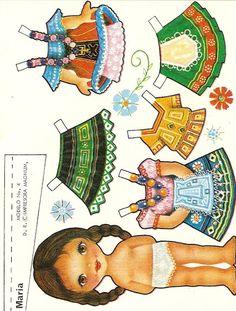 (⑅ ॣ•͈ᴗ•͈ ॣ)♡                                                             ✄Paper Doll Mexicanas - Ale Saldivar - Picasa Albums Web