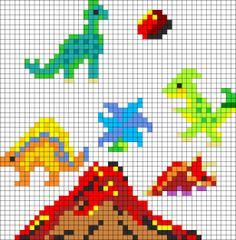 Kandi Patterns for Kandi Cuffs - Animals Pony Bead Patterns Small Cross Stitch, Beaded Cross Stitch, Cross Stitch Charts, Cross Stitch Designs, Cross Stitch Embroidery, Cross Stitch Patterns, Melty Bead Patterns, Pearler Bead Patterns, Perler Patterns