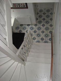 Cement tiles Hall - Azule 03 - Project van Designtegels.nl