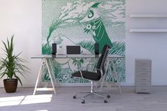 Moomin - Meadow Green - Fototapeter & Tapeter - Photowall Things To Think About, Old Things, Living Spaces, Living Room, Photo Wallpaper, Apartment Therapy, Vintage Furniture, Corner Desk, Pillows