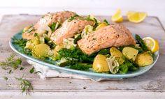 6 sunne hverdagsmiddager du ikke har laget før   EXTRA Healthy Food, Healthy Recipes, Fish And Seafood, Potato Salad, Turkey, Dinner, Ethnic Recipes, Peru, Healthy Nutrition