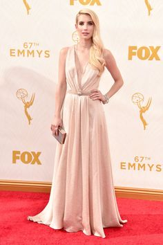 2015 Emmy Awards: Red Carpet Arrivals EMMA ROBERTS