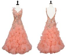 Peach Parfait | Smooth  Standard Dresses | Encore Ballroom Couture