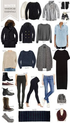 Hopefully your holidays are going great and you are ready to start relaxing. Adding to the existing Spring Essentials and Fall Essentials lists, I tried to build a winter wardrobe using those two as t