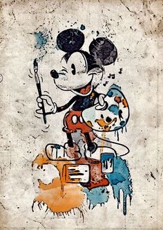 Arty Mickey Mouse