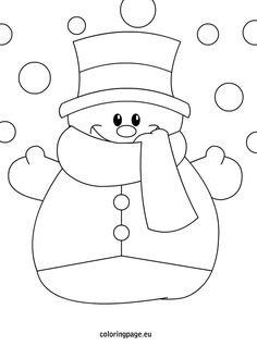 Winter Hat Coloring Pages Luxury Sněhulák Zima Winter Snowman Coloring Pages, Christmas Coloring Pages, Coloring Pages For Kids, Coloring Books, Coloring Sheets, Colouring, Christmas Drawing, Felt Christmas, Christmas Colors
