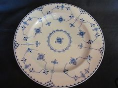 Shenango-China-Dinner-Plate-Blue-Denmark-Pattern-10-From-30s-40s-Pa-U-S-A