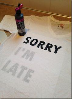 Writing on tee shirts