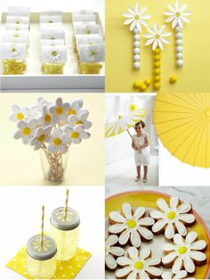 Daisy Party - Bird's Party Blog - Party Supplies, Party Printables, Custom Paper Goods, Stationery and Party Crafts