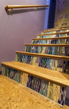 I like the color, not too sure of the landings though. Stair Risers by Jennifer Kuhns