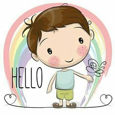 Illustration about Cute Cartoon Boy with a rainbow and butterfly. Illustration of hello, cute, smile - 73278448 Cute Cartoon Boy, Baby Cartoon, Cute Images, Cute Pictures, Tom Und Jerry Cartoon, Diy Poster, Rainbow Butterfly, Cute Clipart, Rock Clipart
