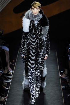 Trippy zebra boots!  ||  Fendi Fall 2015 Couture - Collection - Gallery - Style.com