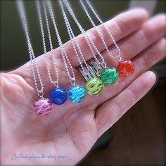 Glass Globe Necklace by Bullseyebeads by bullseyebeads on Etsy, $16.00