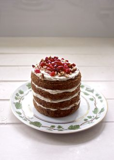Trendy naked cakes are beautiful and easy to make. The simple design lets fruit and flowers, as well as delicious flavor, become the focus of the dessert.