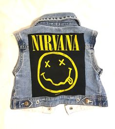 Super adorable denim rock vest for your little one featuring NIRVANA. Nirvana, Size 12, Vest, Boutique, Denim, Clothing, Baby, Outfits, Outfit Posts