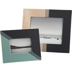 """Shop ojai dipped ceramic 8""""x10"""" picture frame.   The colors of these glazed ceramic frames gave us a desert vibe.  We love the tonal color palettes and subtle ombre bands."""