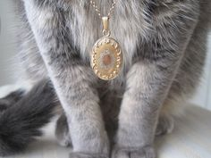 We're digging this shop full of vintage lockets, but it's the demure cat modeling all of them that really has our heads spinning!