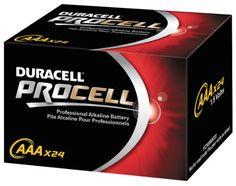 Duracell Procell AAA 24 Pack PC2400BKD09 Duracell,http://www.amazon.com/dp/B0013DQY4O/ref=cm_sw_r_pi_dp_SLVttb01BKS2RFR0