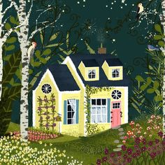 3rd in the Terrarium series here is Yellow House with Birches. See the full…