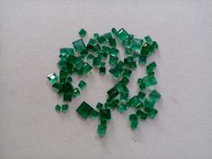 5.00 Cts Natural Emerald Loose Gemstone Brazilian Square Shape Ring Size  #Unbranded