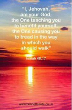 A quote from Almighty God. JEHOVAH.