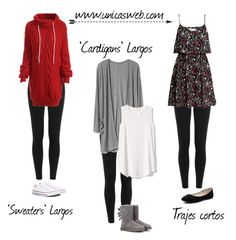 Como Usar Leggings | Sweaters, Dresses & Cardigans by unicasblog on Polyvore featuring H&M, Gap, Polo Ralph Lauren, UGG, Converse and Verali Entra ya a: www.unicasweb.com
